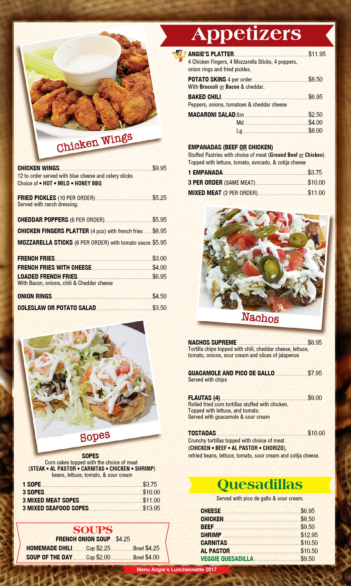 Angie's Luncheonette Menu Page 5