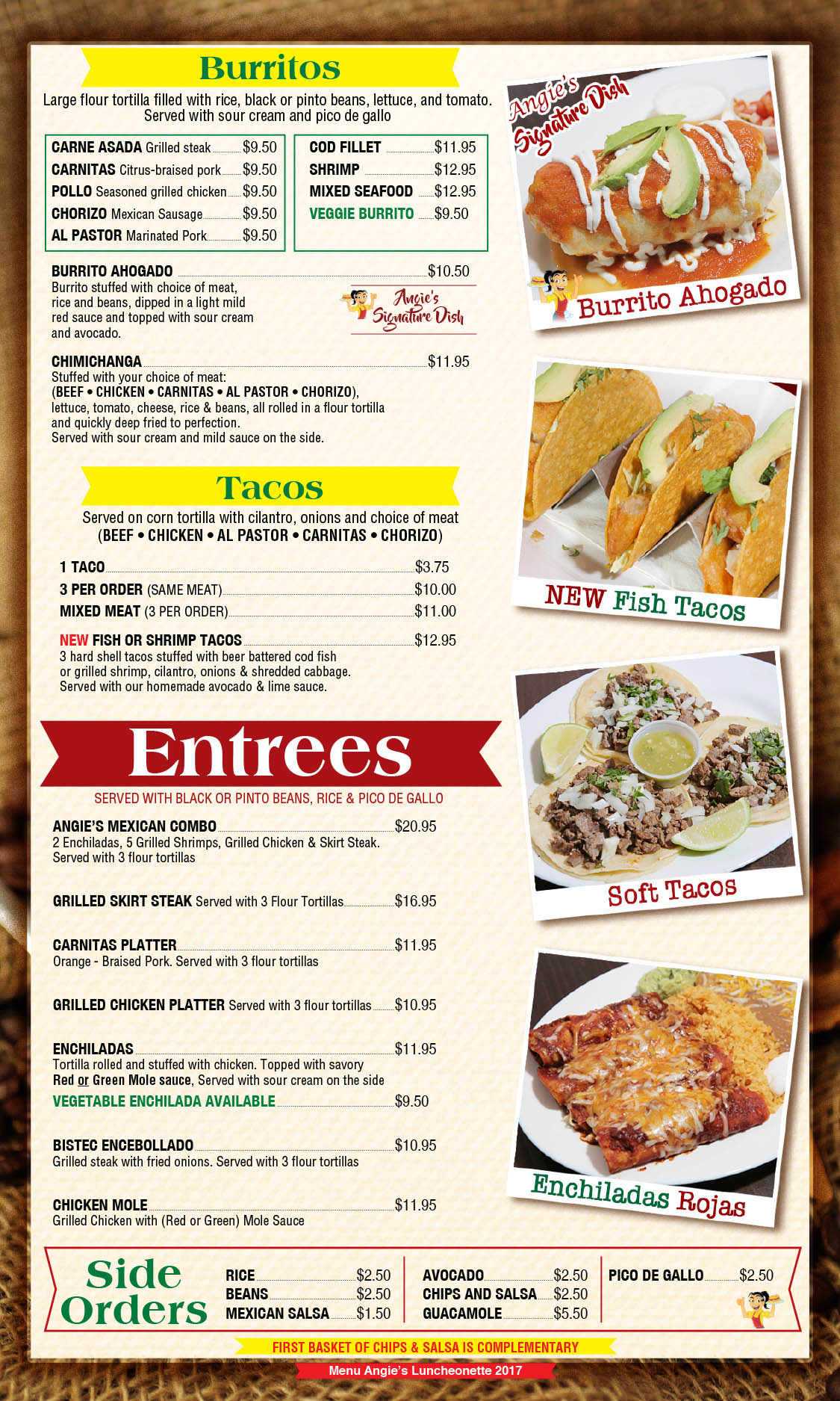 Angie's Luncheonette Menu Page 6