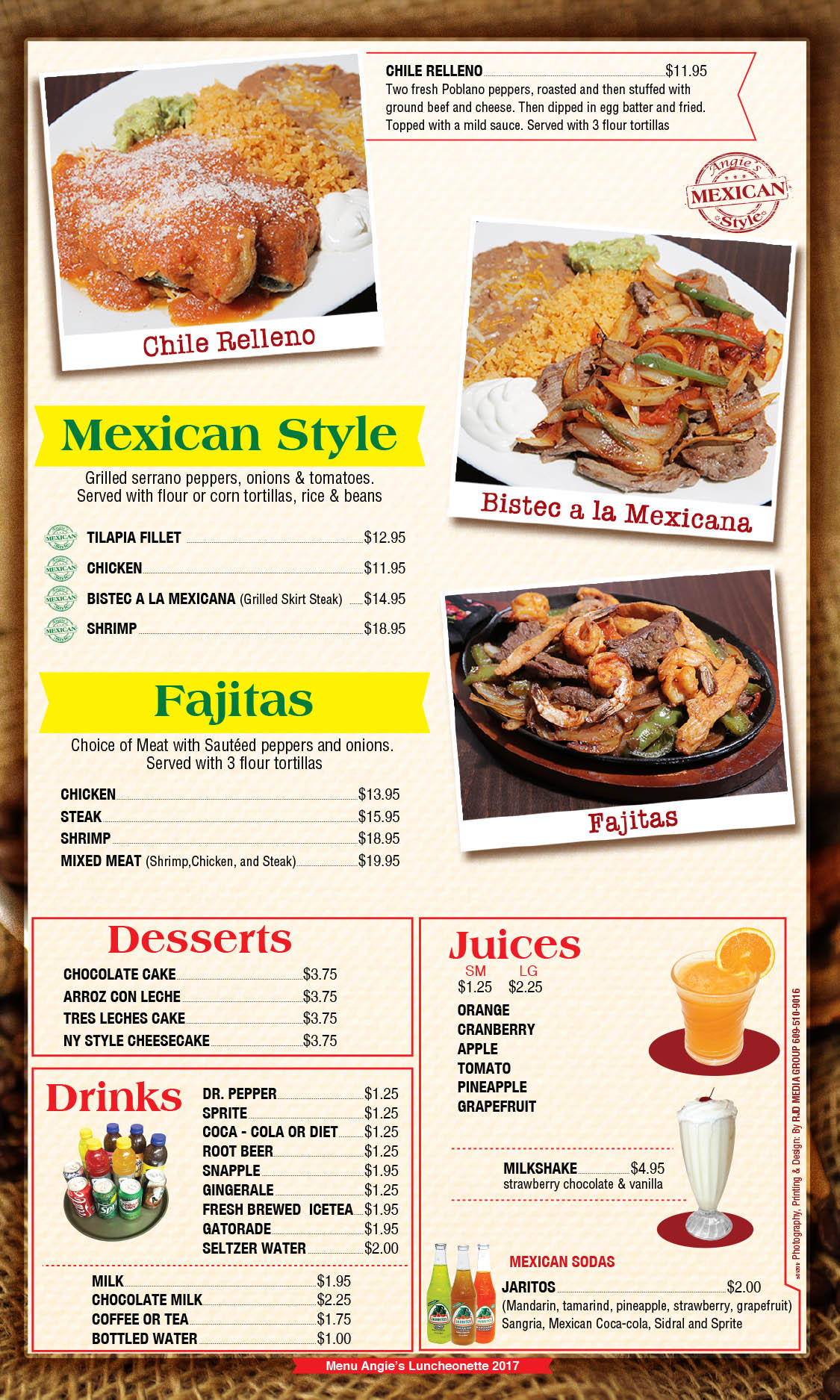 Angie's Luncheonette Menu Page 7