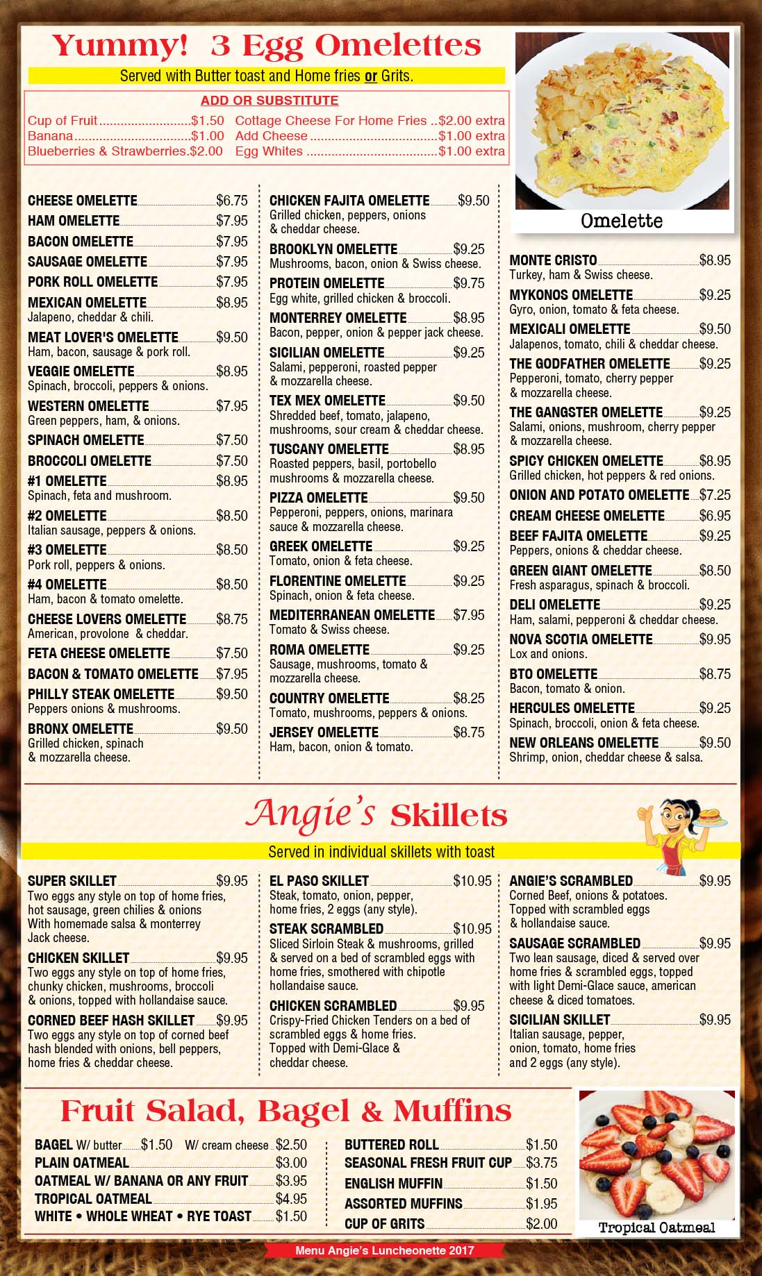 Angies Luncheonette Menu Page 2