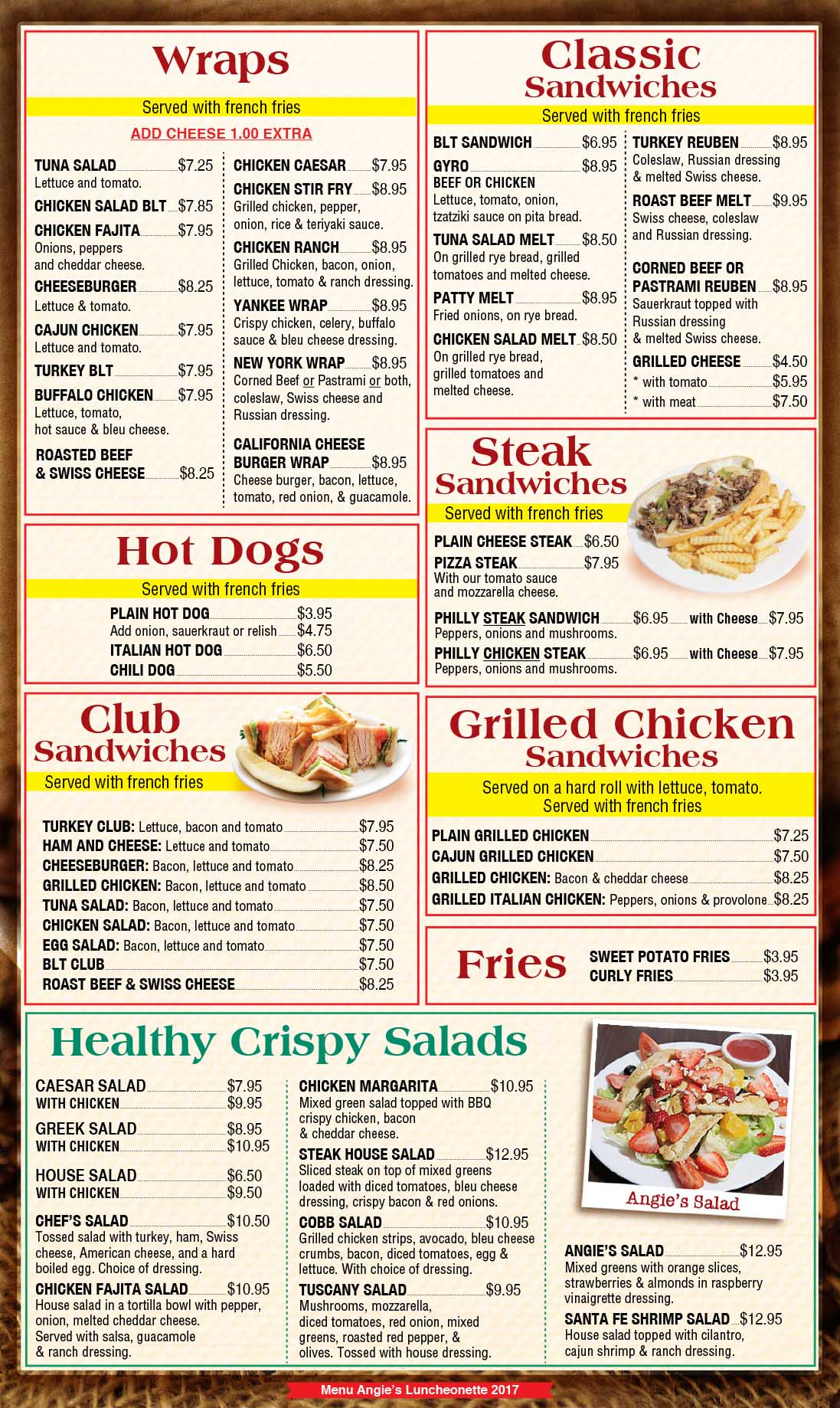 Angies Luncheonette Menu Page 4