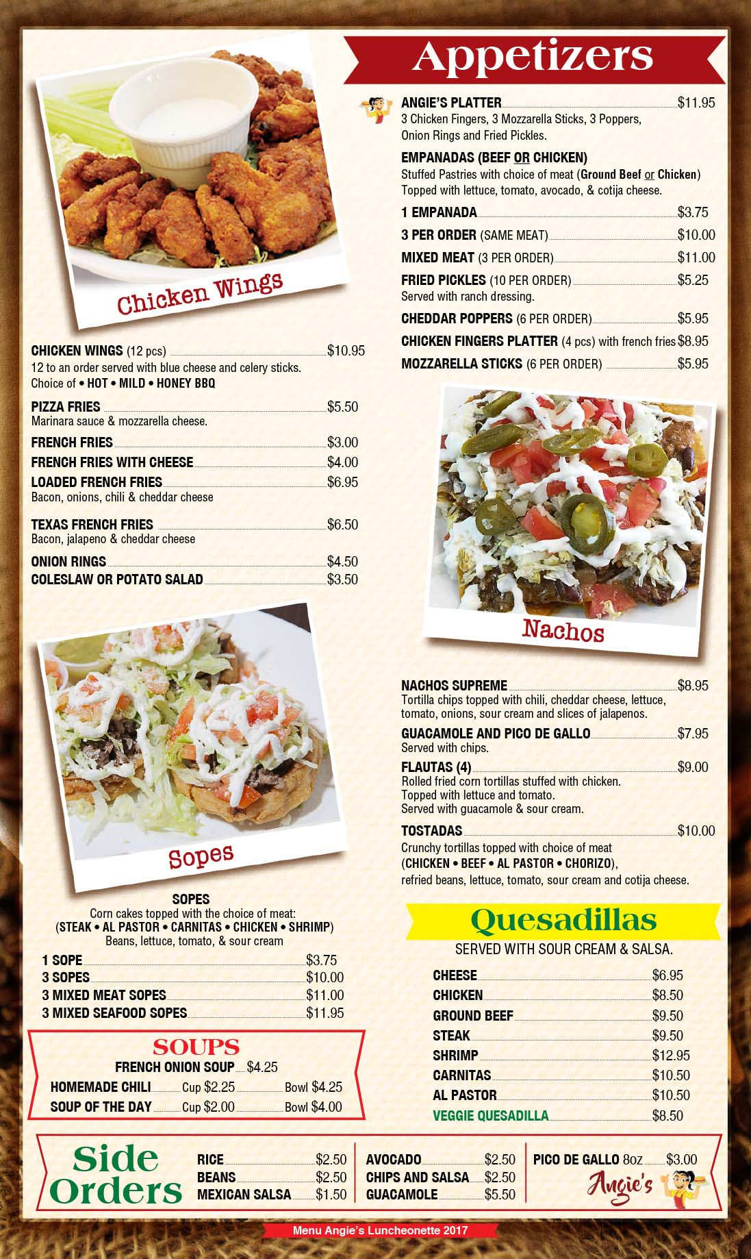 Angies Luncheonette Menu Page 5