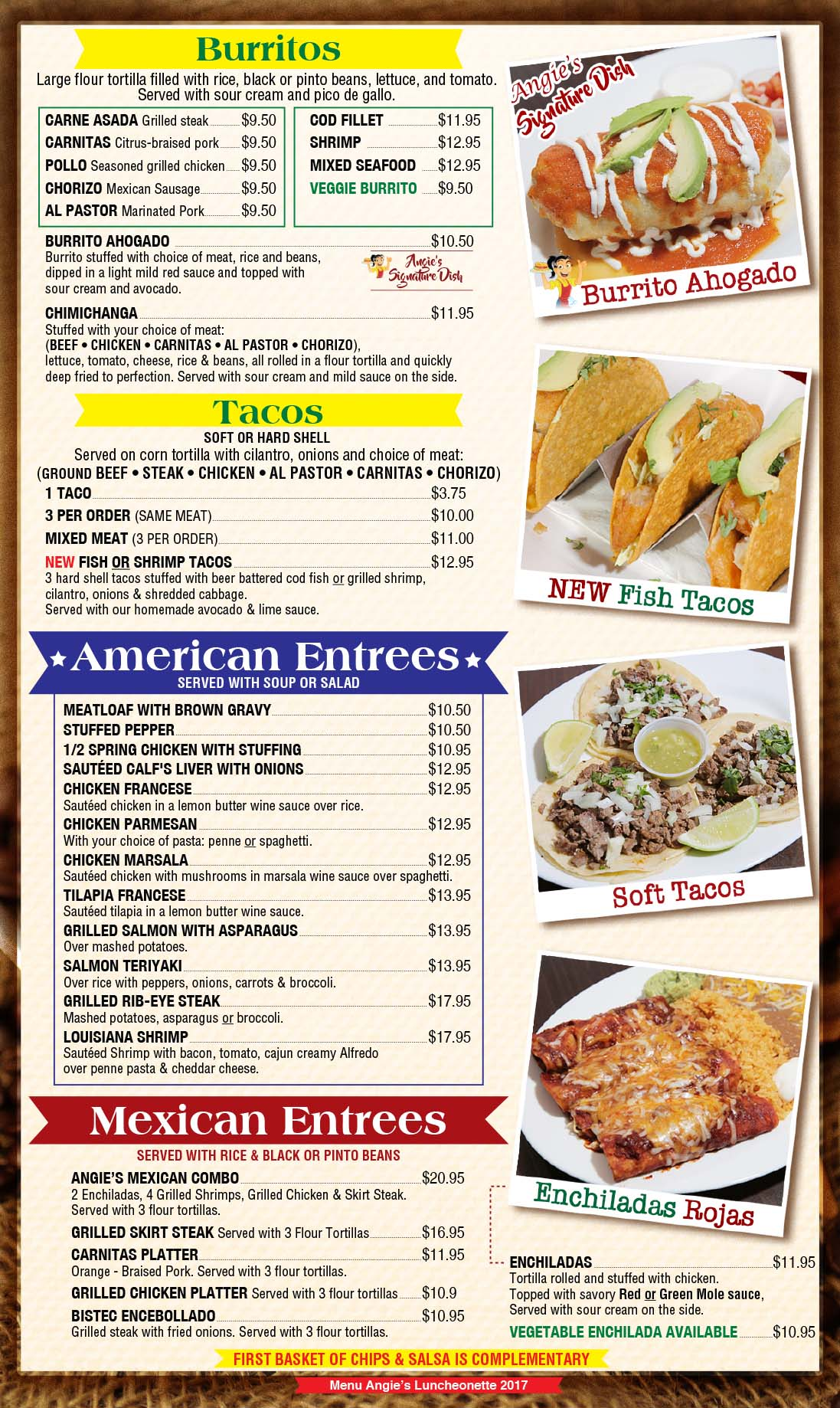 Angies Luncheonette Menu Page 6