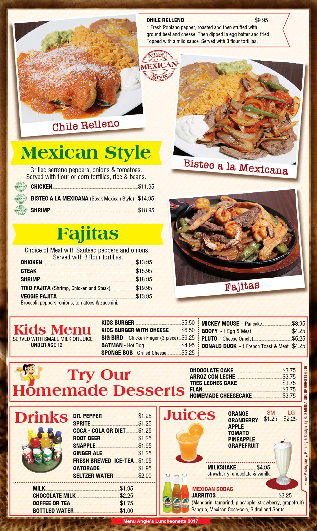 Angies Luncheonette Menu Page 7